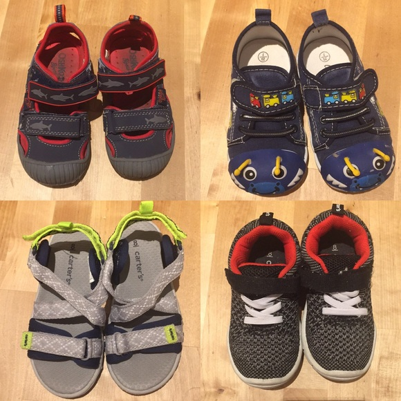 Carter's Other - Toddler boys summer shoes bundle sizes 7 & 8